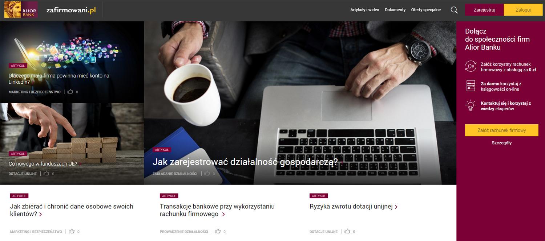 Serwis zafirmowani.pl - Alior Bank