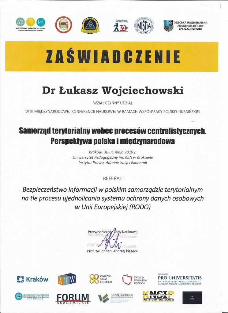 dr Lukasz Wojciechowski konferencja Kraków